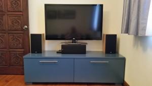 Custom-built TV console