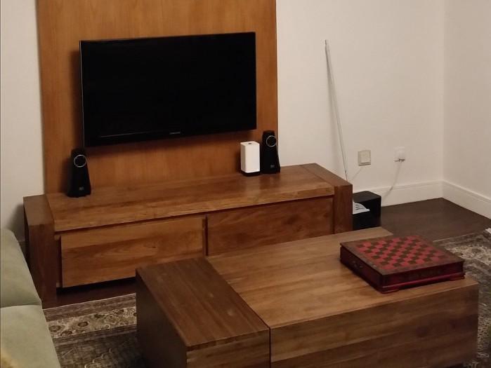 Custom-built entertainment center