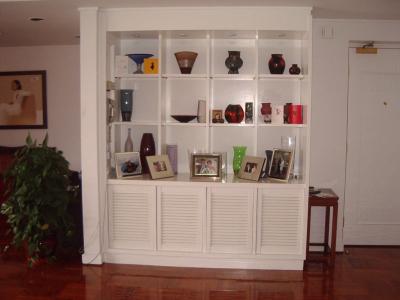 Custom-built display and storage cabinet, Old Peak Road