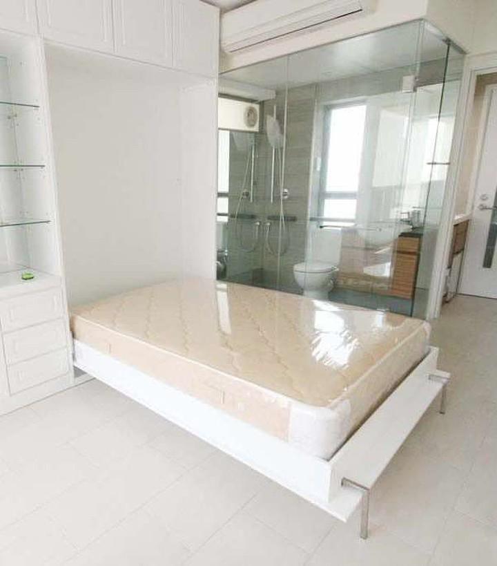 Custom-built wall bed and storage, Sheung Wan