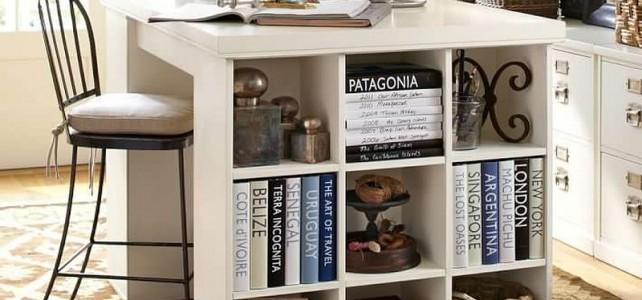 Custom-built kitchen island and book storage, Mid-Levels