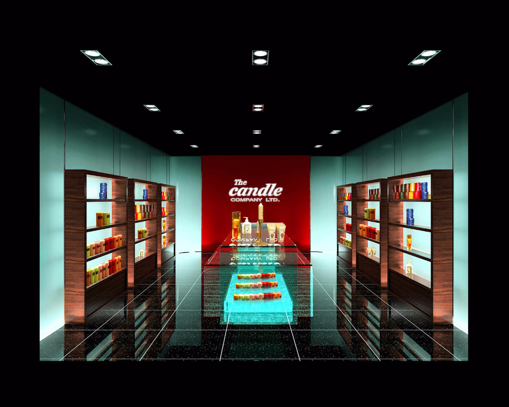 Showroom design concept consultation for Candle Company, Lyndhurst Terrace