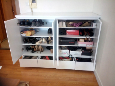 Custom-built shoe cabinet, Hollywood Road