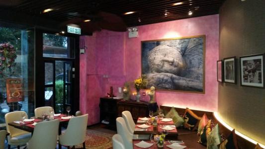 Koh Thai restaurant renovation including bespoke paint finish, SoHo